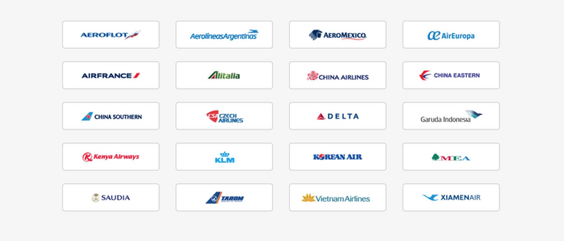 Linie lotnicze należące do sojuszu SkyTeam