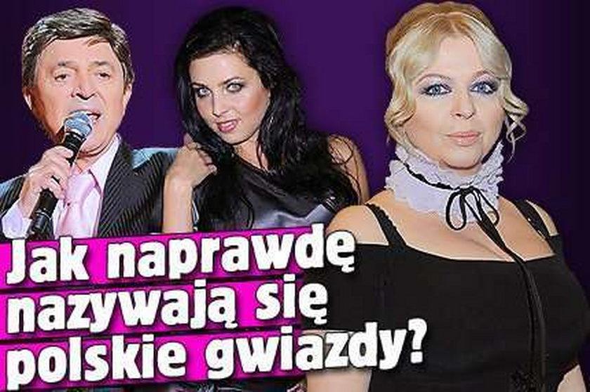 Jak naprawdę nazywają się polskie gwiazdy?