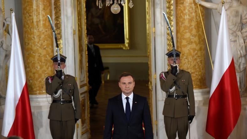 Prezydent Andrzej Duda podczas uroczystości