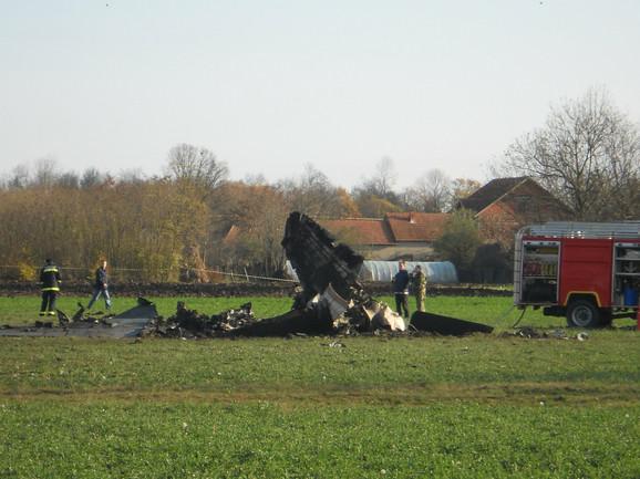 """""""Orao"""" je treći avion koji je pao u ovom selu"""