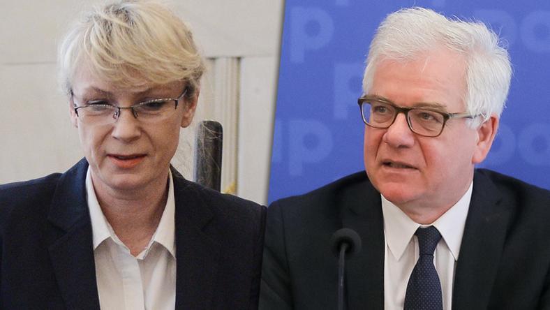 Renata Szczęch i Jacek Czaputowicz