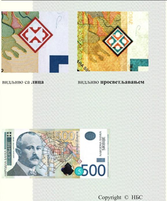 Motivi pirotskog ćilima na novčanici od 500 dinara