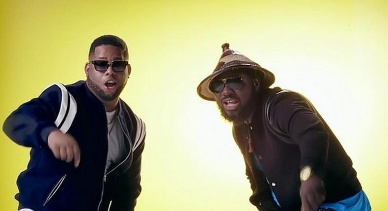[From left to right] D Black and Zeal of VVIP during a video shoot