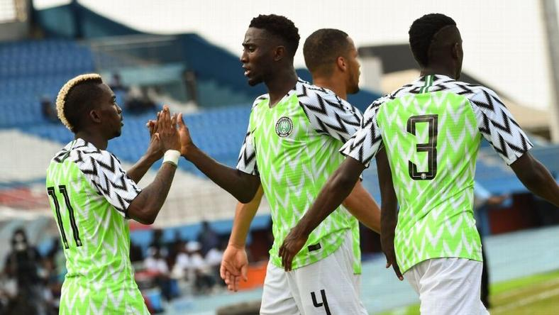 Super Eagles of Nigeria have moved up two places in the new FIFA Ranking (Pius Utomi Ekpei/AFP/Getty Images)