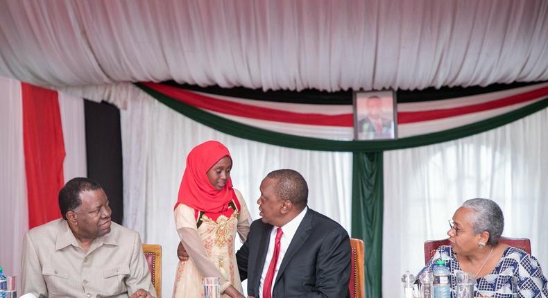 PPMC Director Donald Otoyo, Leila Mohammed, First Lady and President Kenyatta