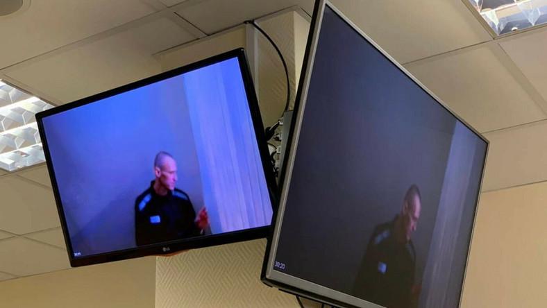 Na monitorze Aleksiej Nawalny