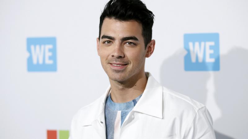 Singer Joe Jonas poses at We Day California in Inglewood
