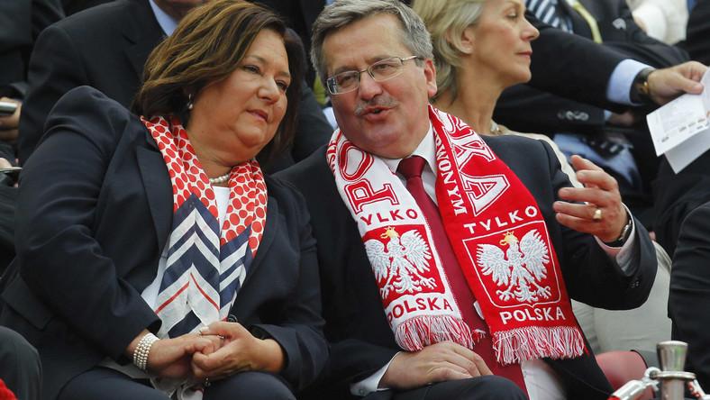 Prezydent na meczu Polska - Grecja