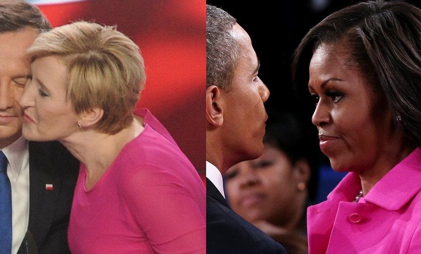 Żona i córka Dudy jak Obama. Różowe kreacje pierwszych dam