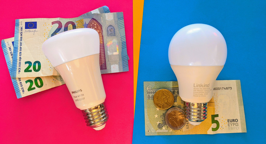 Linkind RGB WLAN Lampe vs Philips Hue
