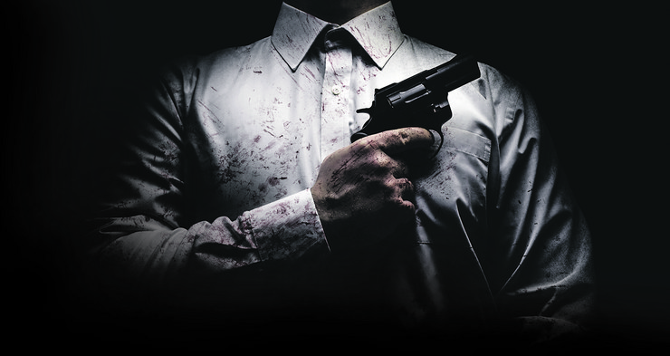stock-photo-horror-scary-photo-of-a-killer-in-white-shirt-with-blood-splatter-and-posing-with-black-gun-on-dark-1051839905