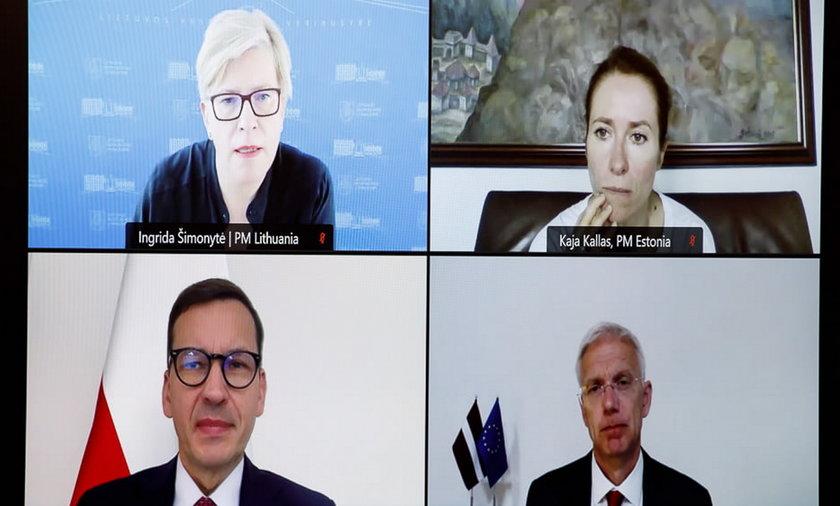 Wideokonferencja premierów zwołana przez Mateusza Morawieckiego