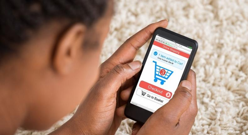 A person shopping online