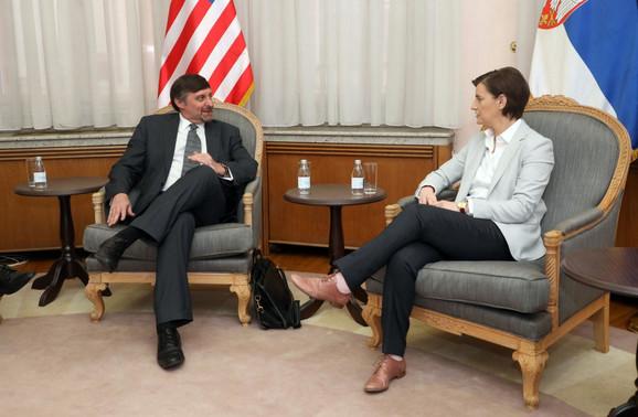 Palmer i Brnabić danas u Vladi Srbije