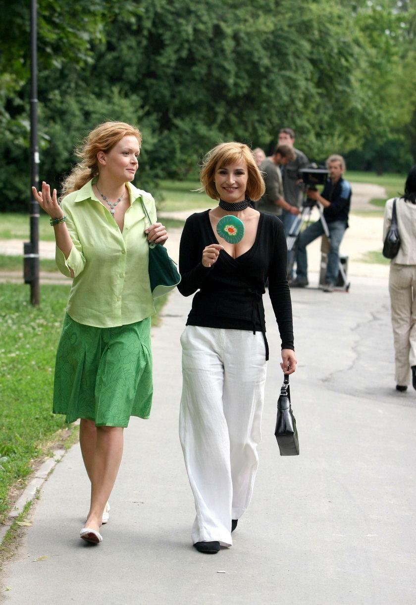 """Daria Widawska i Joanna Brodzik w serialu """"Magda M"""""""