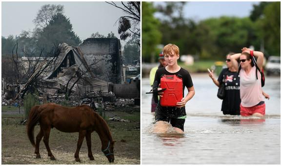 Pustoš nakon požara i obilne poplave