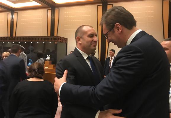 Vučić i  predsednik Bugarske Rumen Radev