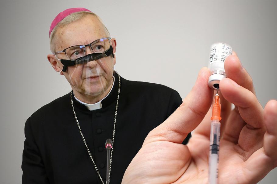 Przewodniczący Konferencji Episkopatu Polski abp Stanisław Gądecki. Zespół bioetyczny episkopatu wypowiedział się w sprawie szczepień przeciw COVID-19
