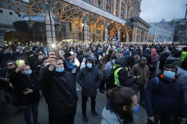 Demonstracja w MoskwieDostawca: PAP/EPA.