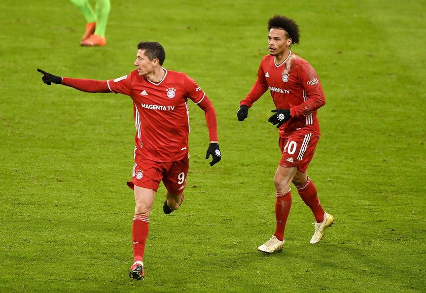 Po golach Lewandowskiego Bayern wygrał z Wolfsburgiem