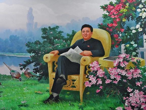 Portret Kim Džong Ila