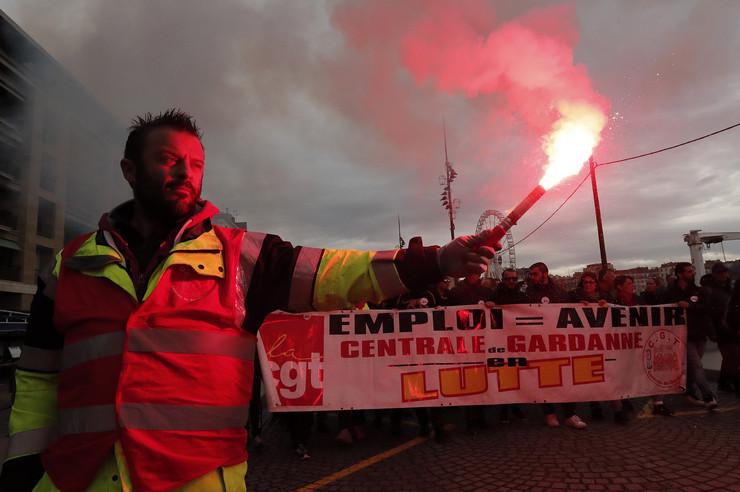 francuska štrajk
