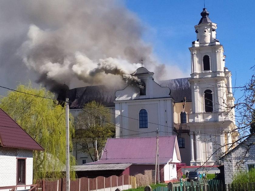 Ogień zauważyli parafianie przed porannym nabożeństwem