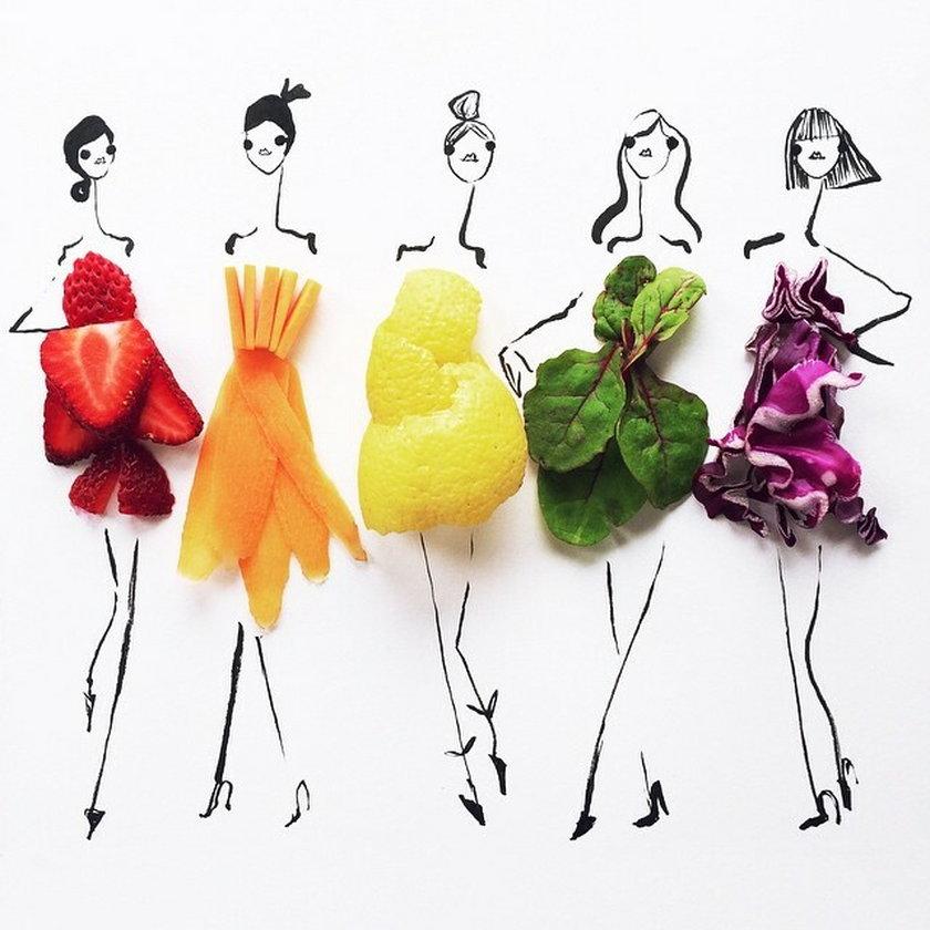 Sukienka z owoców