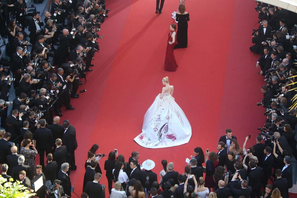 Cannes Film Festival red carpet opening from high spot