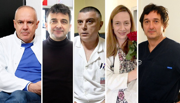 Zoran Radojičić, Miroslav Đorđević, Slobodan Milisavljević, Milena Srbić i Dragan Savić