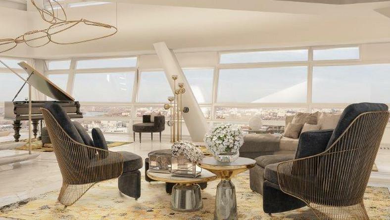 O takim mieszkaniu w chmurach do tej pory w Polsce można było tylko pomarzyć. Teraz luksusowy penthouse w sercu Warszawy – z opieką concierge na najwyższym poziomie – pojawił się na rynku. Spółka BBI Development i amerykański fundusz inwestycyjny Amstar wystawili na sprzedaż 600-metrowy apartament na szczycie Złotej 44.