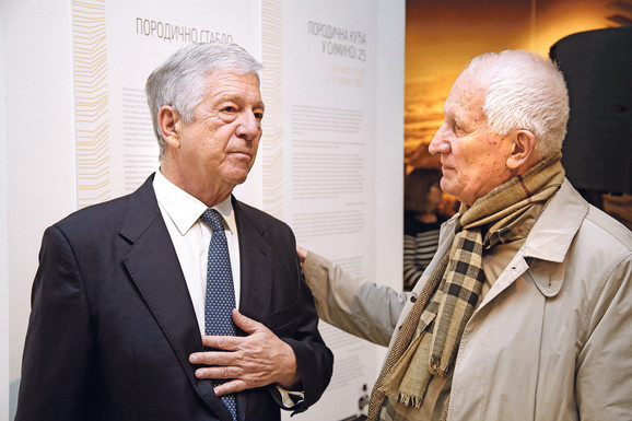 Prestolonaslednik Aleksandar Karađorđević i Matija Bećković