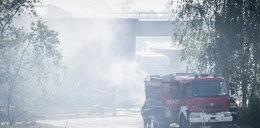 Wielki pożar hal magazynowych w Mikołowie