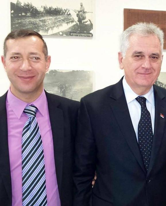 Goran Milovanović u društvu Tomislava Nikolića