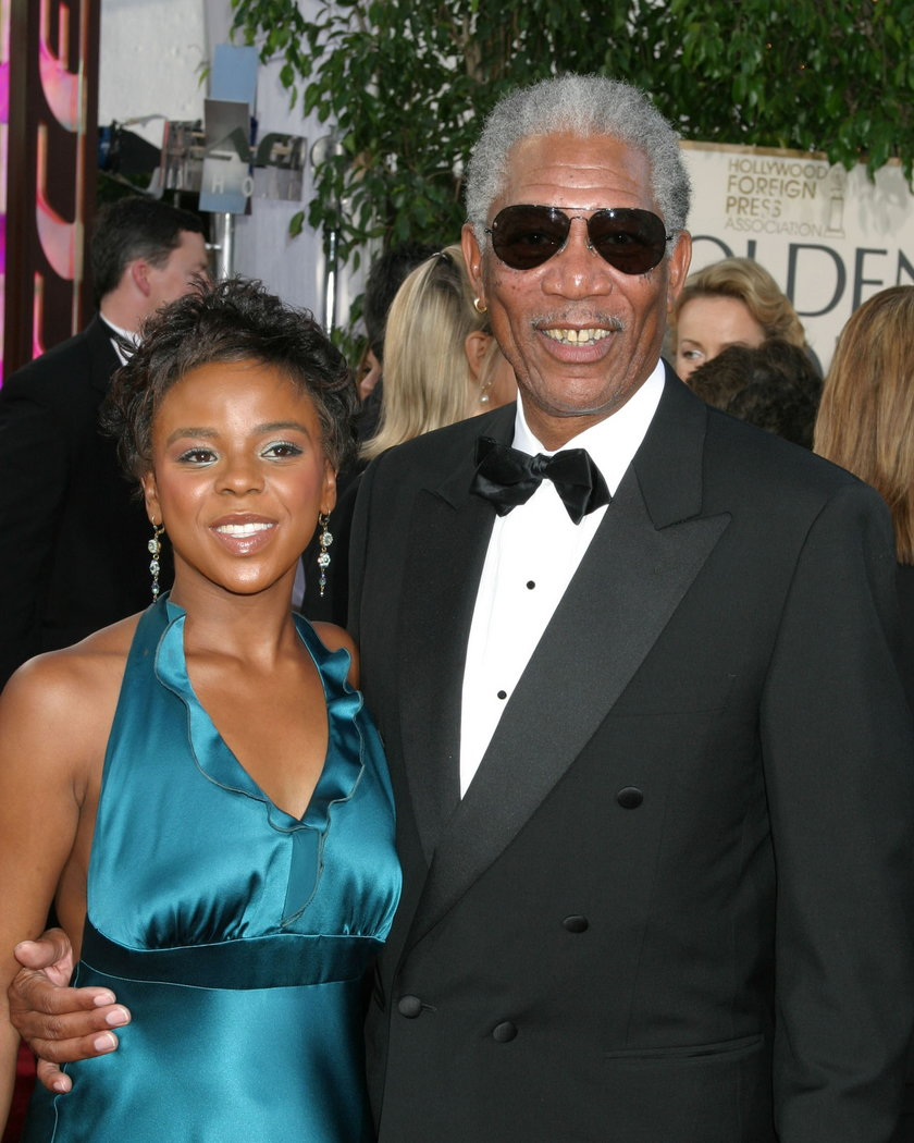 E'Dena Hines i Morgan Freeman