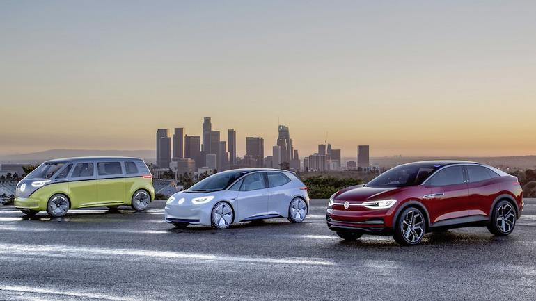 Elektryczne koncepty VW w Los Angeles