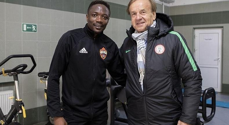 Gernot Rohr has clarify that Ahmed Musa will not be part of Super Eagles playing squad for the upcoming games