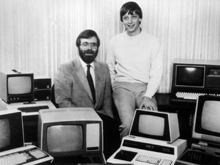 Paul Allen (z lewej) i Bill Gates w 1981 r.