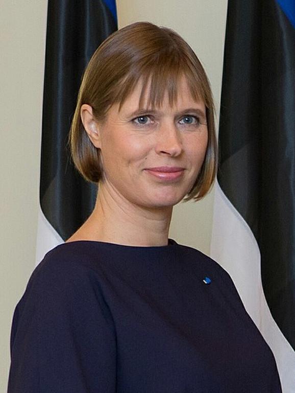 Predsednica Estonije Kersti Kaljulaid