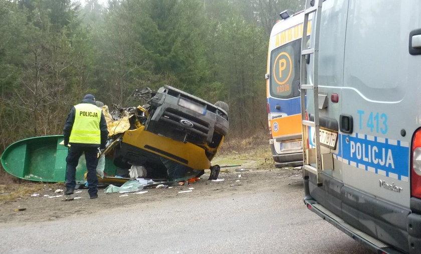 Groźny wypadek na trasie Ełk-Rajgród