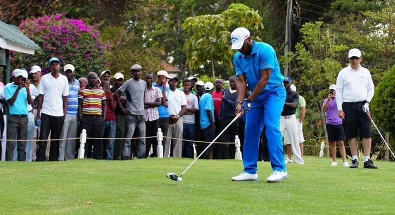Jay-Jay Okocha at Barclays Kenya Open
