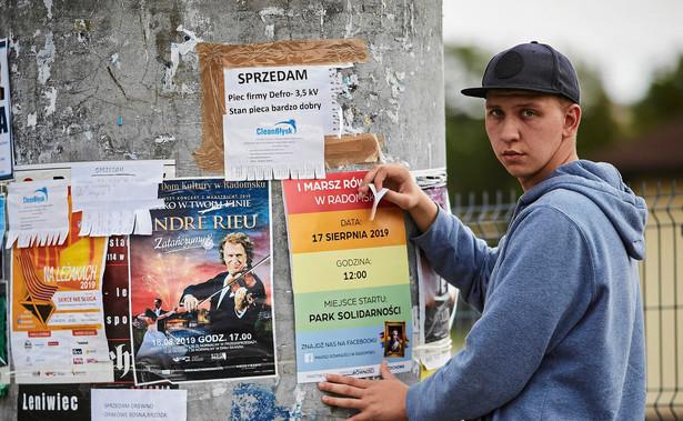 Organizator marszu na rzecz praw mniejszosci LGBT Ksawery Olczy