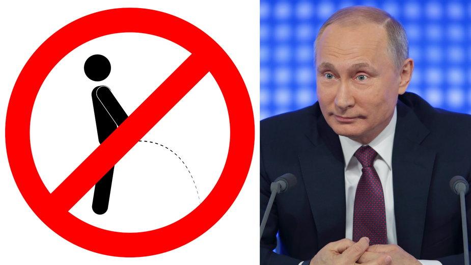 """Norwegia: """"Zakaz sikania w kierunku Rosji"""". Znak na granicy"""