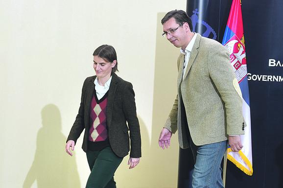 Brnabić i Vučić