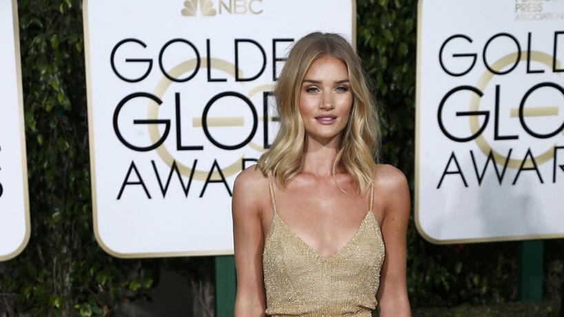 Rosie Huntington-Whiteley arrives at the 73rd Golden Globe Awards in Beverly Hills