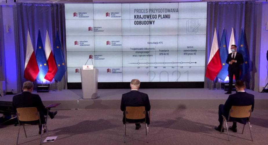 Prezentacja KPO w Kancelarii Premiera. Fot. Wojciech Jakóbik