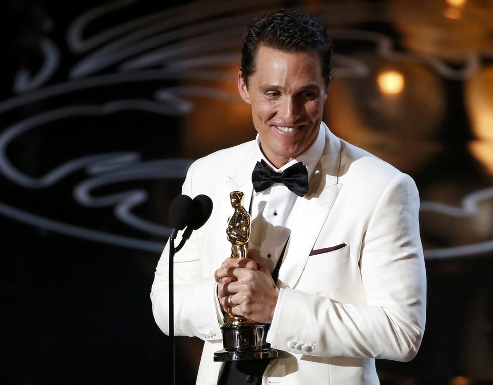 """Oscary 2014: Matthew McConaughey ze statuetką za rolę w filmie """"Witaj w klubie"""""""