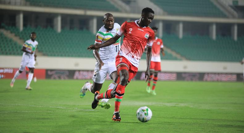 Belgium based Kenyan Joseph Okmu couldn't stop Mali from thrashing Harambee Stars 5-0 at the 2022 World Cup Qualifier Group E match on Thursday, October 7.