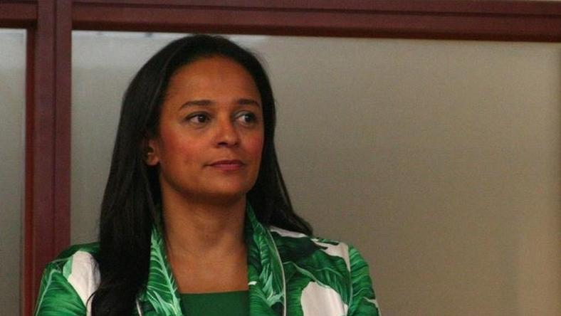 Isabel dos Santos, the daughter of Angolan President Jose Eduardo dos Santos, speaks to journalists before being sworn in as chief executive of state oil firm Sonangol in Luanda, Angola, June 6, 2016.