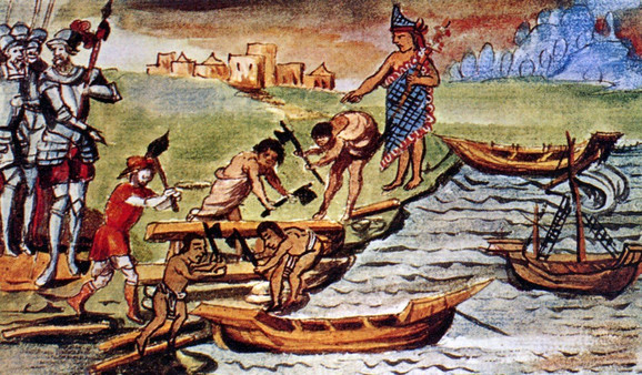 Astečko trojno carstvo vladalo je Meksičkom dolinom od 1428, sve do poraza od španskih konkvistadora 1521.